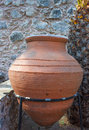 Giant amphora ancient in fortress museum courtyard in marmaris turkey Stock Photography