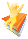 Giant book concept Royalty Free Stock Photo