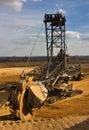 Giant bucket wheel excavator Stock Images