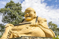Giant buda, Buddhist Temple, Foz do Iguacu, Brazil. Royalty Free Stock Photo