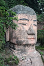 The giant buddah of leshan in sichuan province china Royalty Free Stock Photo