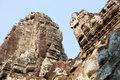 Giant buddha face at Bayon temple, Cambodia Royalty Free Stock Image