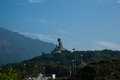 The giant buddha in hongkong tian tan also known as big is a large bronze statue of a amoghasiddhi completed and located at ngong Stock Photography