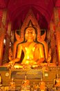 Giant Buddha image in Thailand Royalty Free Stock Photography