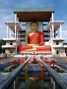Giant Buddha at Matara Temple Stock Images