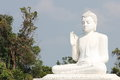 The giant buddha statue of Mihintale Royalty Free Stock Photo