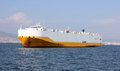 Giant cargo ship in sea izmir bay Stock Photo