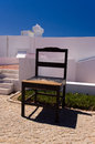 Giant chair in the courtyard of lighthouse on cabo de sao vicente algarve Royalty Free Stock Image