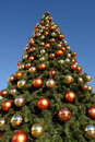 Giant Christmas Tree Royalty Free Stock Photography