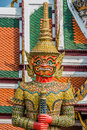 Giant demon yaksha atsakanmala grand palace bangkok thailand portrait at Stock Images