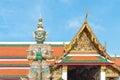 Giant at gate in Wat Phra kaew, Bangkok, Thailand Royalty Free Stock Photo