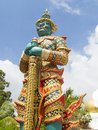 Giant guarding statue in thailand temple Stock Images