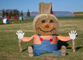 Giant Halloween Scarecrow Royalty Free Stock Photography