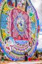 Giant kite, All Saints' Day, Guatemala Royalty Free Stock Photo