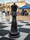 Giant, life-sized queen chess piece Royalty Free Stock Photo