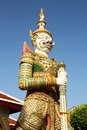 Giant of literature in temple bangkok thailand Royalty Free Stock Photography