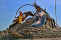 Giant lobster statue landmark a famous in eastern canada Stock Images