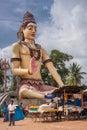 Giant Lord Shiva statue off Srikanteshwara Temple in Ganjangud,