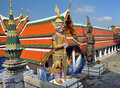 Giant Mosaic Figures Guard the Grand Palace Royalty Free Stock Photo
