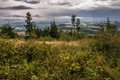 Giant mountains panorama from the hill kozakov with parry arc atmospheric optical show on right Stock Images