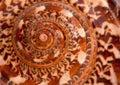 Giant Nautilus shell outside pattern Royalty Free Stock Photo