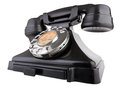 Giant old telephone bakelite gpo series model shot from low wide angle isolated on white with clipping path Stock Photo