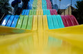 Giant rainbow slide a colorful Royalty Free Stock Photos
