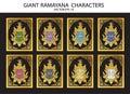 Giant Ramayana characters