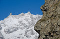 Giant s tooth mont blanc massif meters Stock Photos