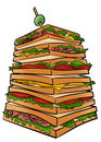 Giant sandwich Royalty Free Stock Photo