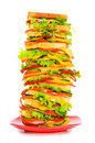 Giant sandwich isolated Stock Photos