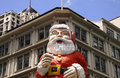 Giant Santa Claus on building Royalty Free Stock Image