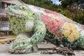 Giant Sculpture Of A Lizard. P...