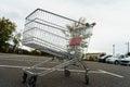 Giant shopping cart Royalty Free Stock Photo