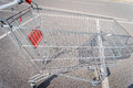 Giant shopping cart Royalty Free Stock Photo