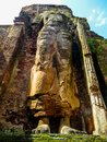 Giant Standing Buddha statue in Polonnaruwa, Sri Lanka Royalty Free Stock Photo