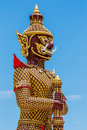 Giant statue in buddhism the art of temple thailand Royalty Free Stock Image