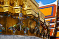 Giant statue decoration of buddhist temple Royalty Free Stock Images