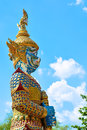 Giant statue in front of temple from thailand Stock Images