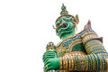 Giant statue isolate on white of at wat arun wat arun or temple of the dawn is one of a famous buddhist temple in the bangkok Royalty Free Stock Images