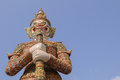 Giant statue at Wat Phra Kaew Stock Image