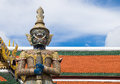 Giant statue in Wat Phra Kaew or Grand palace in Thailand Royalty Free Stock Photo