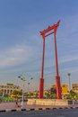 Giant swing bangkok thailand march the sao ching cha was constructed in it was formerly used in an old brahmin ceremony and is one Royalty Free Stock Photography