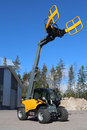 Giant tendo telehandler lieto finland march with clamps on display the advantages of telehandlers compared to forklift and front Royalty Free Stock Image