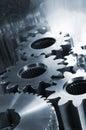 Giant titanium machinery Royalty Free Stock Photo