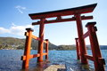 Giant torii japanese gate photo of Royalty Free Stock Photos