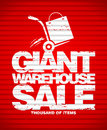 Giant warehouse sale design template. Royalty Free Stock Image