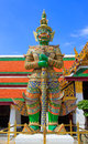 Giant of Wat Phra Kaew, Bangkok Thailand. Royalty Free Stock Photo