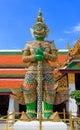 Giant of Wat Phra Kaew, Bangkok Thailand. Royalty Free Stock Photo