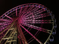 Giant wheel at night Royalty Free Stock Image